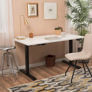 Christopher Knight Home Wendell 58-inch Adjustable Wood Standing Desk with Dual Powered Base