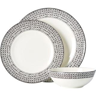 Lenox Around the Table Dot 12-piece Dinnerware Set