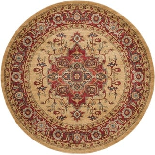 Safavieh Mahal Red/ Natural Rug (9' Round)