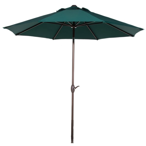 Abba Market Aluminum 9 Foot Patio Umbrella with Push Button Tilt and Crank 18282042