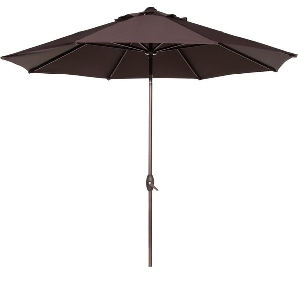 Abba Aluminum 9 Foot Patio Umbrella with Auto Tilt and Crank 18282074