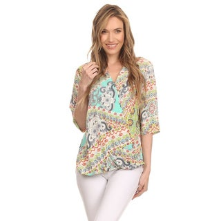 MOA Collection Women's Multi-Color Ornate Top