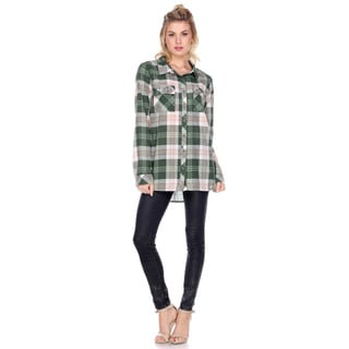 Stanzino Women's Plaid Cotton Button-Down Shirt