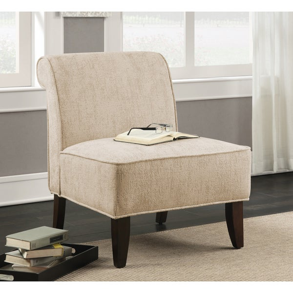 Sadie Slipper Vintage Creme Accent Slipper Chair