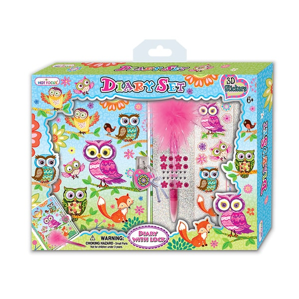 Hot Focus Sweet Crush Diary Set with 3D Stickers