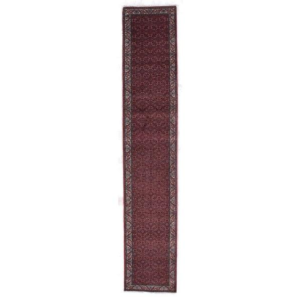 Bijar Blood Orange New Zealand Wool Rug (2'4 in. X 12'8 in. Runner)