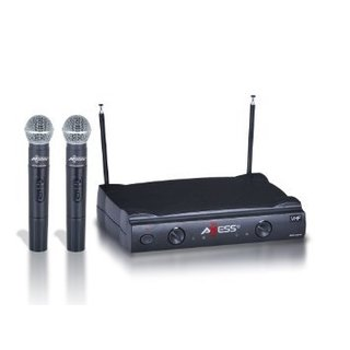 Axess VHF Channel Long Range Two Wireless Microphone System