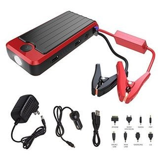 PowerAll Rosso Red/Black Portable Power Bank and Car Jump Starter