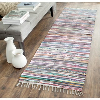 Safavieh Hand-Woven Rag Rug Grey/ Multi Cotton Rug (2' 3 x 8')