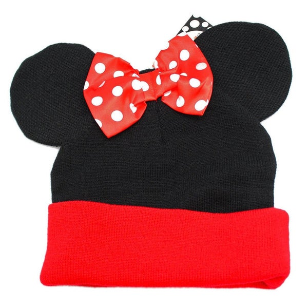 Minnie Mouse Ears with Bow Beanie