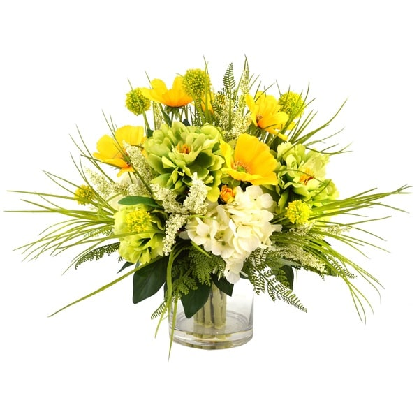 Blooming Green and Yellow Spring Floral Bouquet