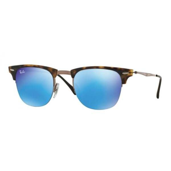 Ray-Ban Clubmaster Light Ray RB8056 Unisex Tortoise/Brown Frame  Blue Mirror Lens Sunglasses 18283353
