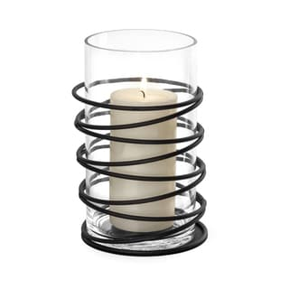 Danya B Swirl Metal and Glass Hurricane