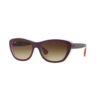 Ray-Ban RB4227 619213 55mm Brown Gradient Lenses Violet Frame Sunglasses