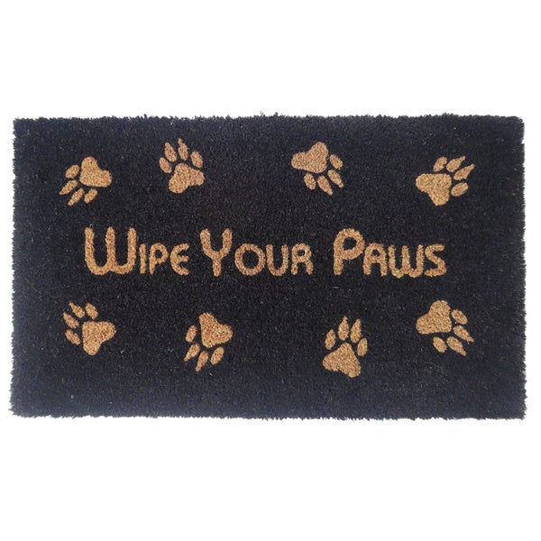 'Wipe Your Paws' Coir Doormat