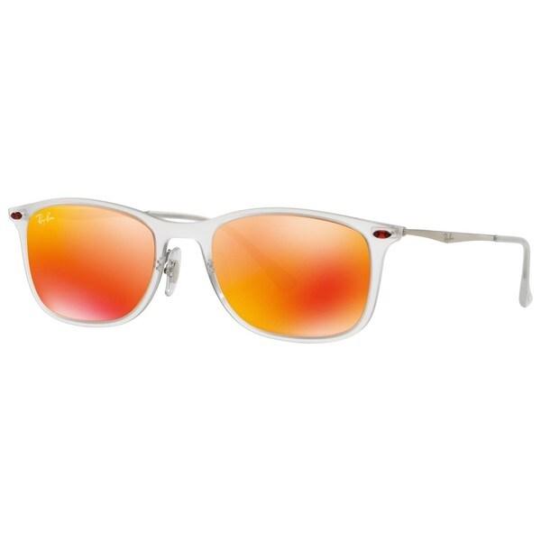 Ray-Ban RB4225 646/6Q 52mm Red Mirror Lenses Transparent/Gunmetal Frame Sunglasses