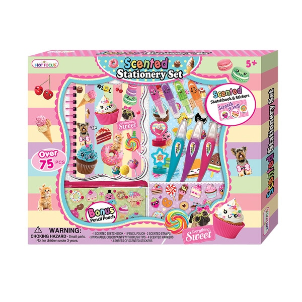 Hot Focus Sweet Crush Scented Stationery Set