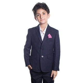 Elie Balleh Boy's Milano Italy 2016 Style Slim Fit Jacket/Blazer in Navy Blue