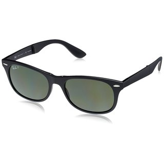 Ray-Ban RB4223 601S9A 55mm Polarized Green Classic Lenses Black Frame Foldable Sunglasses