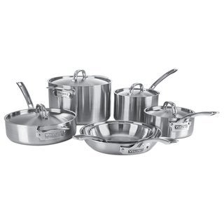 Viking 5-Ply 4515-1S10S 10 Piece Cookware Set Stainless Steel