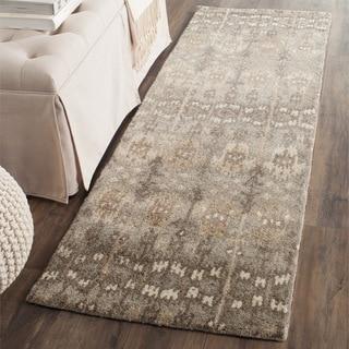 Safavieh Handmade Wyndham Natural/ Multi Wool Rug (2' 3 x 15')