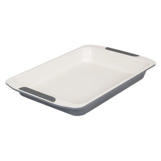 Viking Ceramic Coated Non-Stick Roast Baking Sheet 14-inch Cream/ Grey