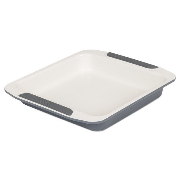 Viking Ceramic Coated Non-Stick Square Cake Pan 9-inch Cream/ Grey