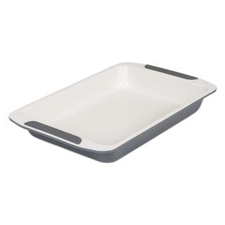 Viking Ceramic Coated Non-Stick Roast Baking Sheet 13-inch Cream/ Grey