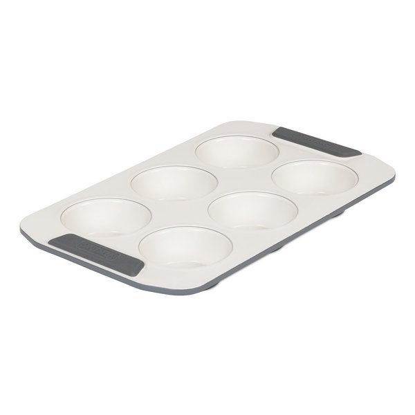 Viking 6 Cup Ceramic Non-Stick Coated Muffin Pan Cream/ Grey 18284528