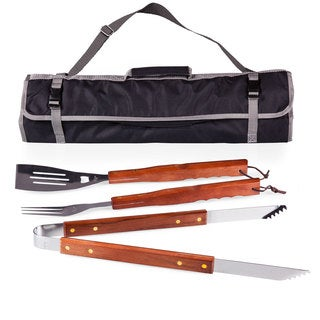 Picnic Time 3-Piece BBQ Tote and Tools Set