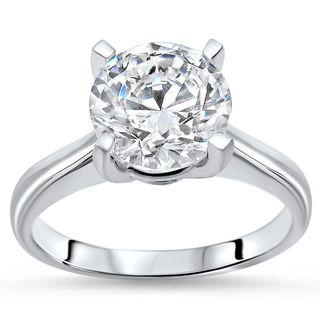 Noori 1 3/5ct TGW Round Moissanite Engagement Ring 14k White Gold