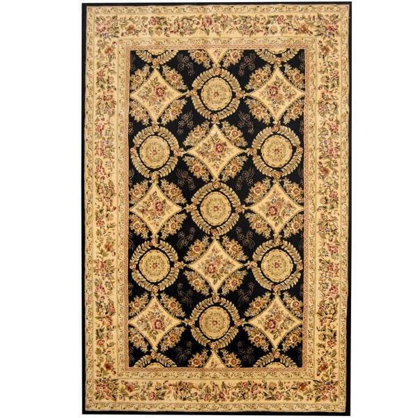 Herat Oriental Indo Hand-tufted Tabriz Wool and Silk Rug (5'9 x 8'9) - 5'9 x 8'9 18284677
