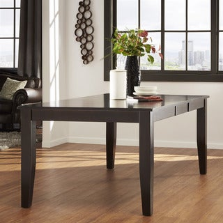 TRIBECCA HOME Acton Warm Merlot Casual Extending Dining Table