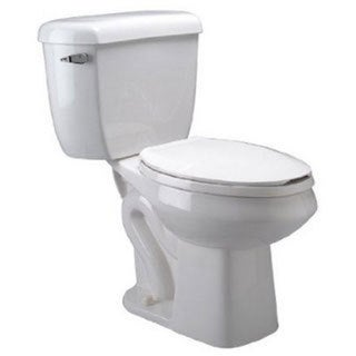 Zurn Pressure Assist RND Front Dual Flush 1.6/1.0 GPF 2-PC Toilet Bowl