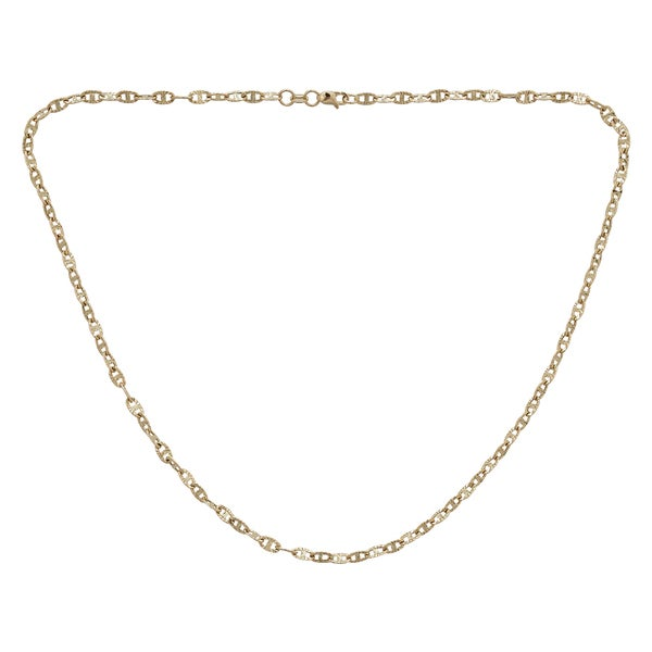 Decadence 14k Gold Diamond-Cut Mariner Necklace