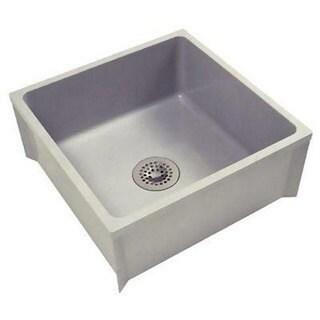 Zurn Z1996 Mop Basin W/PVC Drain Assembly Sink (24 x 24)