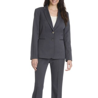 Tahari Arthur S. Levine Women's Navy 2-piece Pants Suit