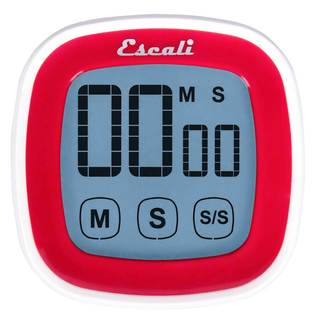 Escali DR3-R Touch Screen Digital Timer in Red
