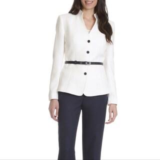 Tahari Arthur S. Levine Women's Belted 2-piece Pants Suit