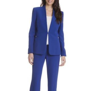 Tahari Arthur S. Levine Women's Blue 2-piece Pants Suit