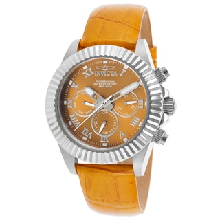Invicta Women's Pro Diver Light Orange Leather Watch
