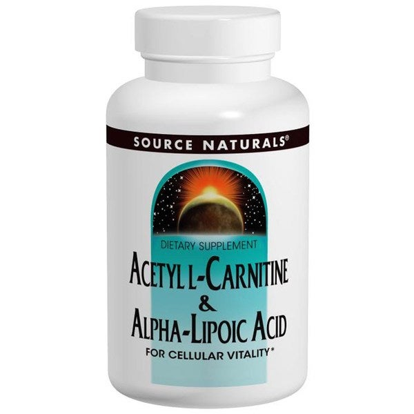 Source Naturals Acetyl L-Carnitine and Alpha Lipoic Acid Tablets (120 Tablets)