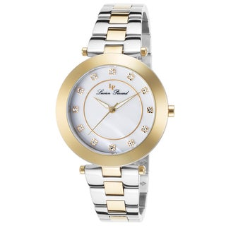 Lucien Piccard Odessa Gold-Tone Stainless Steel White Mother of Pearl Dial Watch