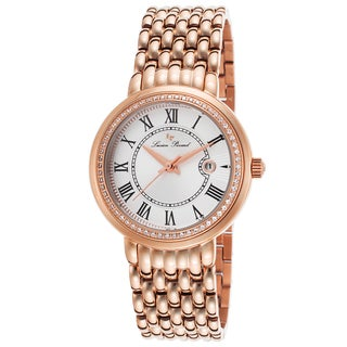 Lucien Piccard Fantasia Rose-Tone Stainless Steel Silver-Tone Dial Watch