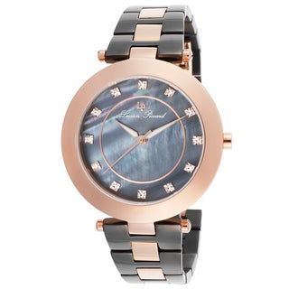 Lucien Piccard Odessa Gunmetal Stainless Steel and Rose-Tone Watch