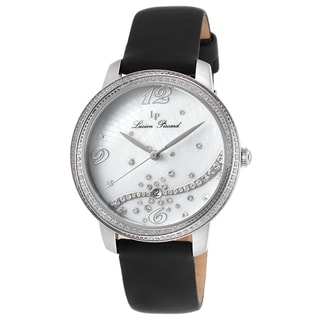 Lucien Piccard Mirage Black Satin White Mother of Pearl Dial Watch