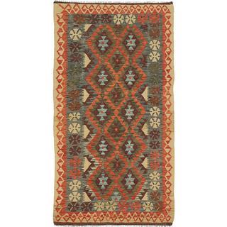 ecarpetgallery Handmade Anatolian Blue Wool Kilim Rug (3'3 x 6'4)