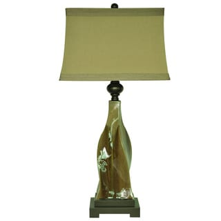 Crestview Collection 64 in. Earth Tone Floor Lamp