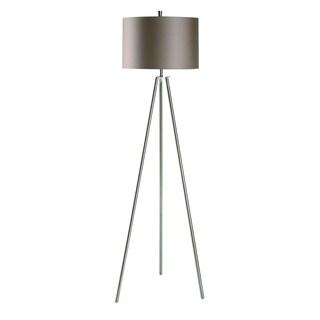 Crestview Collection 60-inch Brushed Nickel Floor Lamp