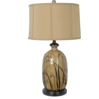 Crestview Collection 28-inch Green, Brown, Cream, and Mustard Table Lamp
